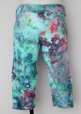 Capri Leggings cropped - size Large - ice dye - Cotton Candy crinkle
