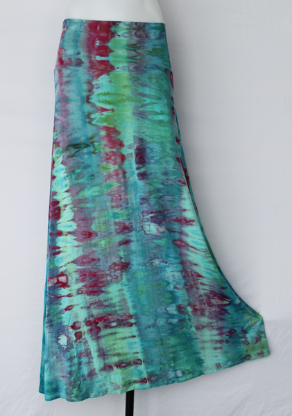 Ice dye Maxi skirt - size XL - Cotton Candy snakeskin