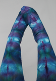 Cotton Thigh High socks - ice dye - Cotton Candy