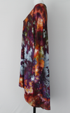 Women's Plus size 3X hi lo tunic ice dye - Dark Jewels crinkle