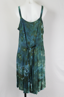 Tie dye sundress size Large ice dye - Deepest Waters