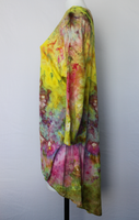 Tie dye hi lo tunic - size Small - Electric Sun crinkle
