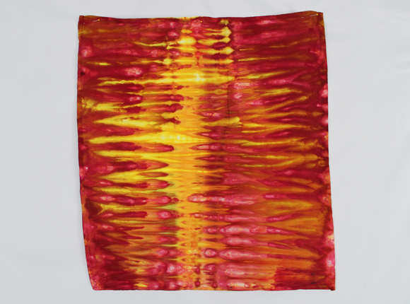 Cotton Flour sack towel - ice dye - Fire on the Mountain snakeskin