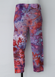 Capri leggings - size Large - ice dye - Fruit Punch crinkle