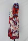 Short sleeve tunic - size Medium - ice dye - Fruit Punch mega eye