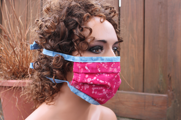 Fabric face mask - Fuchsia blue