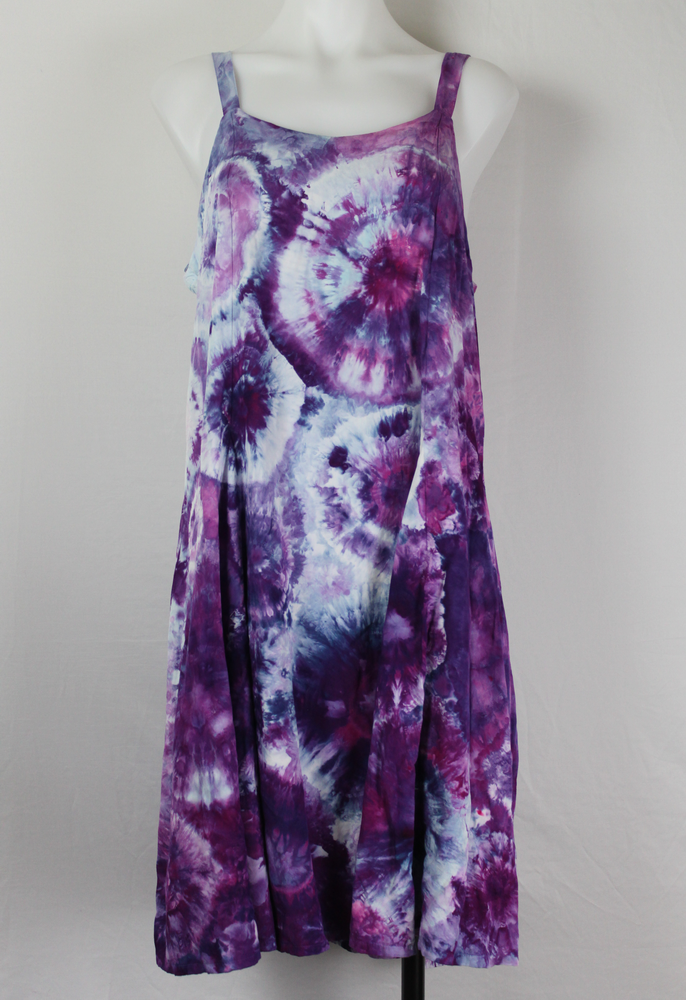 Tie dye sundress size Medium - ice dye - Grape Splash (6)
