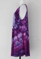 Sleeveless tunic - size Large - ice dye - Grape Splash twist