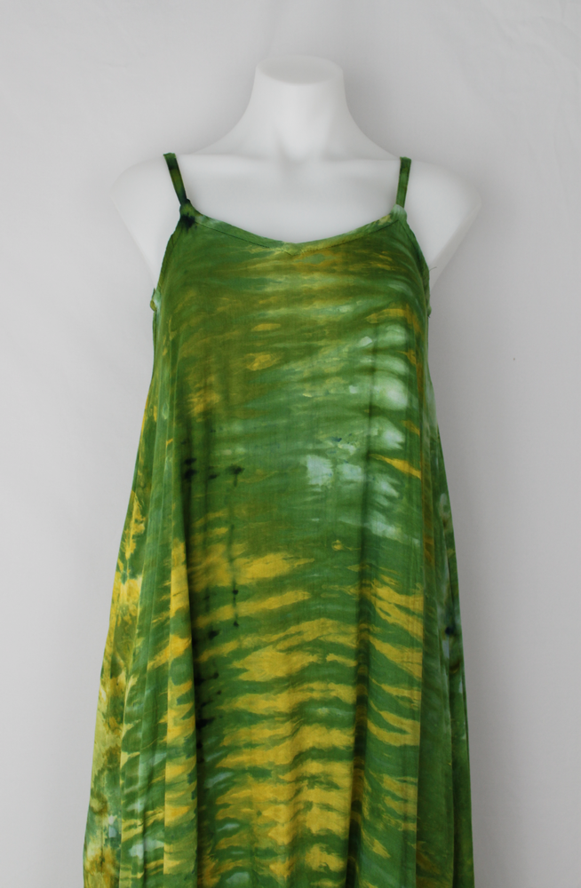 Rayon Slip on Maxi Dress - size XS- Grass is Greener snakeskin