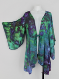 Tie dye Rayon Kimono Ice dye - size XXL - Handful of Gems crinkle