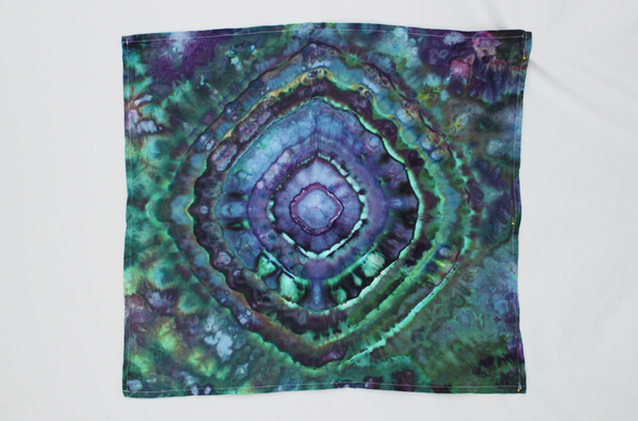 Flour sack towel cotton - ice dye - Handful of Gems mega eye