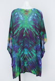 Rayon Poncho One size fits most - ice dye - Handful of Gems V snakeskin
