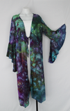 Long Trumpet sleeve Kimono size 2X - Handful of Gems crinkle