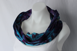 Cotton Infinity Scarf - ice dye - Helen's Iris Patch (1)