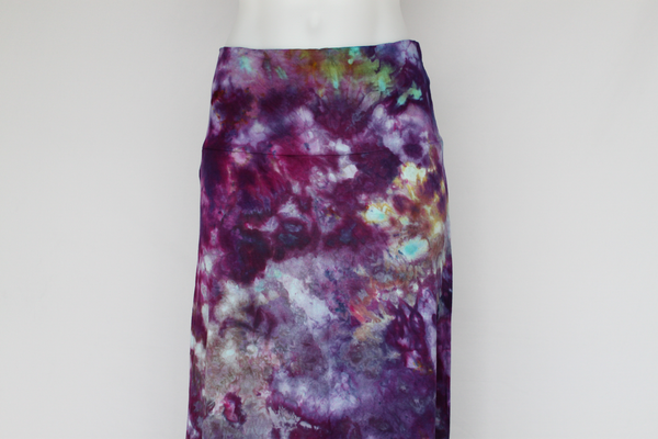 Maxi Skirt - size Large - ice dye - Helen's Iris Patch crinkle