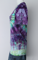 Ladies tie dye shirt size Small - ice dye - Helen Iris Patch twist