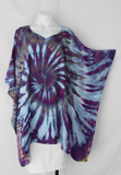 Rayon Poncho One size fits most - ice dye - Helen's Iris Patch twist