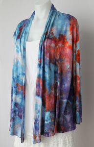 Open Cardigan size Small Ice dye - Karen's Wit crinkle