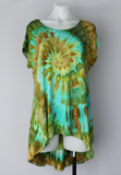 Hi Lo tunic - size Large - cap sleeves ice dye - Kauai twist