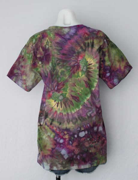 Men's ice dyed tee shirt - size Medium - Kimmy's Purple dbl twist