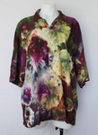 Men's X Large button shirt rayon ice dye - Kimmy's Purple bulls eye