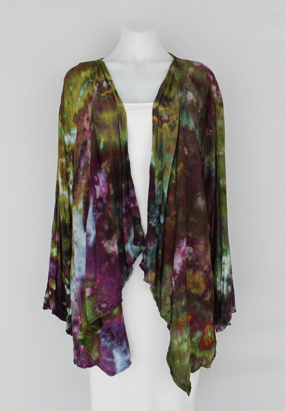 Waterfall Jacket rayon - size LG/XL - Kimmy's Purple crinkle