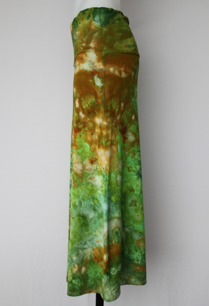 Midi Skirt - size XL - ice dye - Kortney's Meadow crinkle