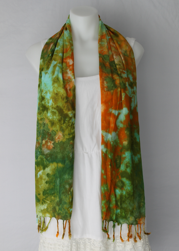 Tie dyed Scarf - Kortney's Meadow