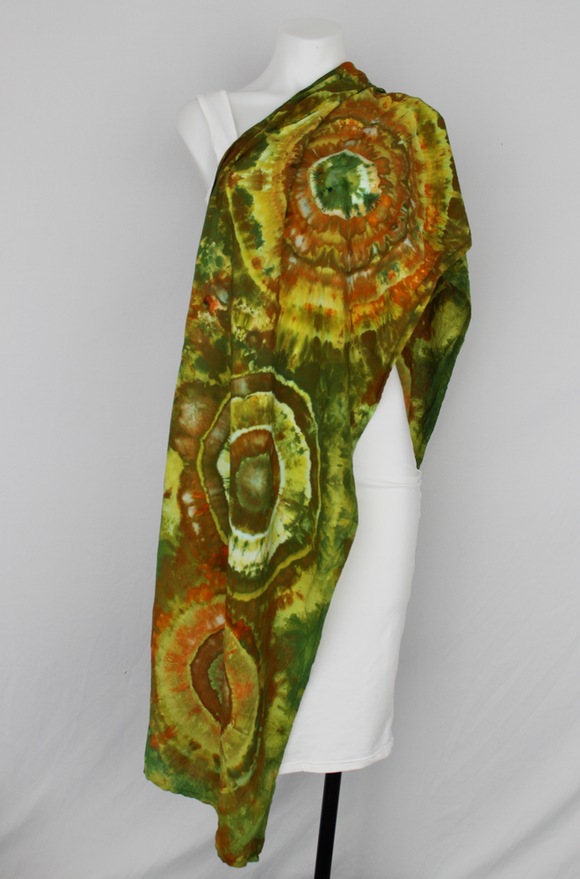 Rayon Scarf - Kortney's Meadow bullseye