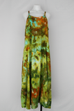Long rayon sundress with embroidery cut out design size LARGE - Kortney's Meadow crinkle