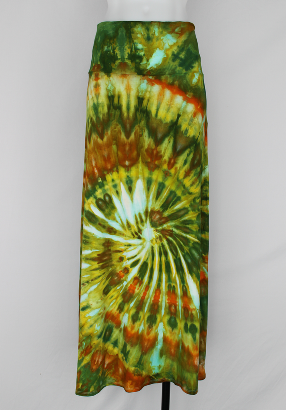 Tie dye Maxi Skirt size Medium - ice dye - Kortney's Meadow twist