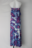 Tube top Maxi dress size Medium ice dye - Lavender Garden crinkle