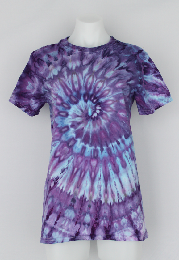 Men's shirt size Small unisex ice dyed - Lilac Festival twist