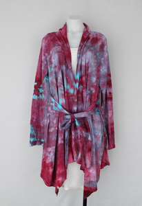 Jersey Waterfall jacket with ties size LG/XL - Little China Girl crinkle