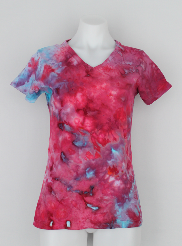 Ladies t shirt size Small - ice dye - Little China Girl crinkle