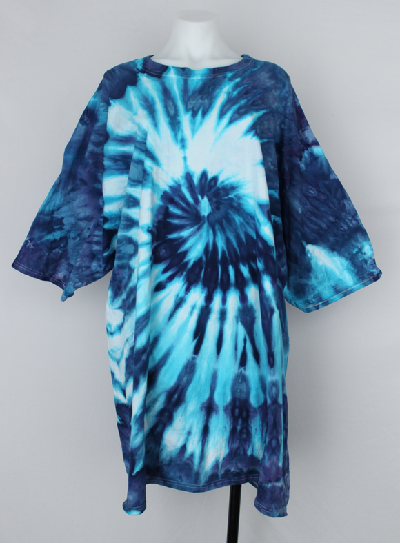 Men's shirt size 4XL TALL ice dye - Mackenzie's Ocean twist