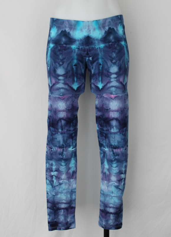 Leggings size Medium - Mackenzie's Ocean stained glass