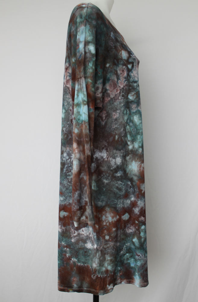 Tunic dress - size Medium - ice dye - Magical Abyss crinkle