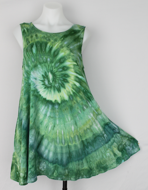 Sleeveless tunic size Medium ice dye - Mermaid's Tale twist