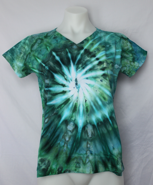 Ladies Small V neck t shirt - Mermaid's Tale twist
