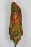 Tie dye tunic asymmetric size Large batik ice dye - Earthy Napa Valley