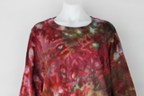 Men's long sleeve shirt size XXL Unisex ice dye - Napa Valley crinkle