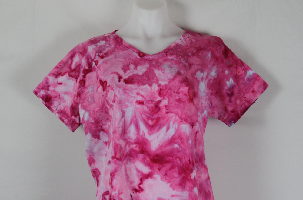 Tie dye t shirt - size Large ice dye - Pretty in Pink (1)