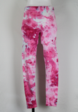 Tie dye Leggings size Medium - ice dye - Pretty in Pink (1)