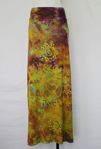 Batik Ice dye size Large Maxi Skirt - Purple Island