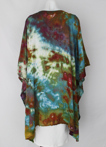 Rayon Poncho One size fits most - Rainbow Connection crinkle