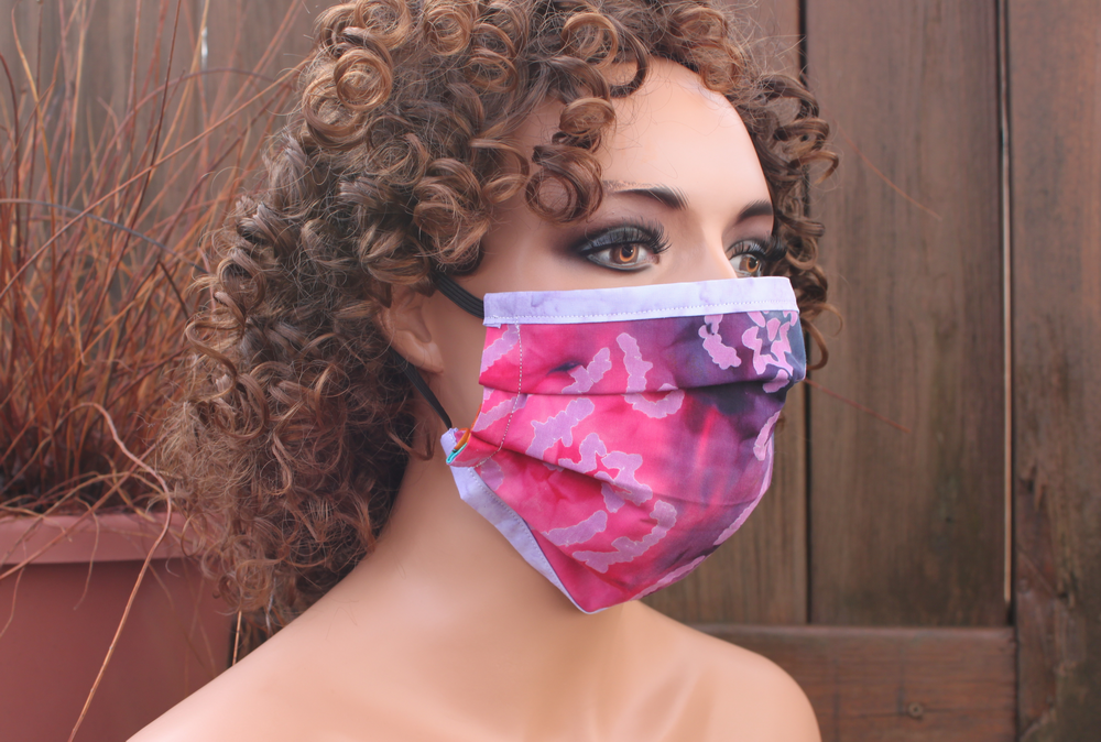 Fabric face mask with Elastic - Shooting Stars lavender