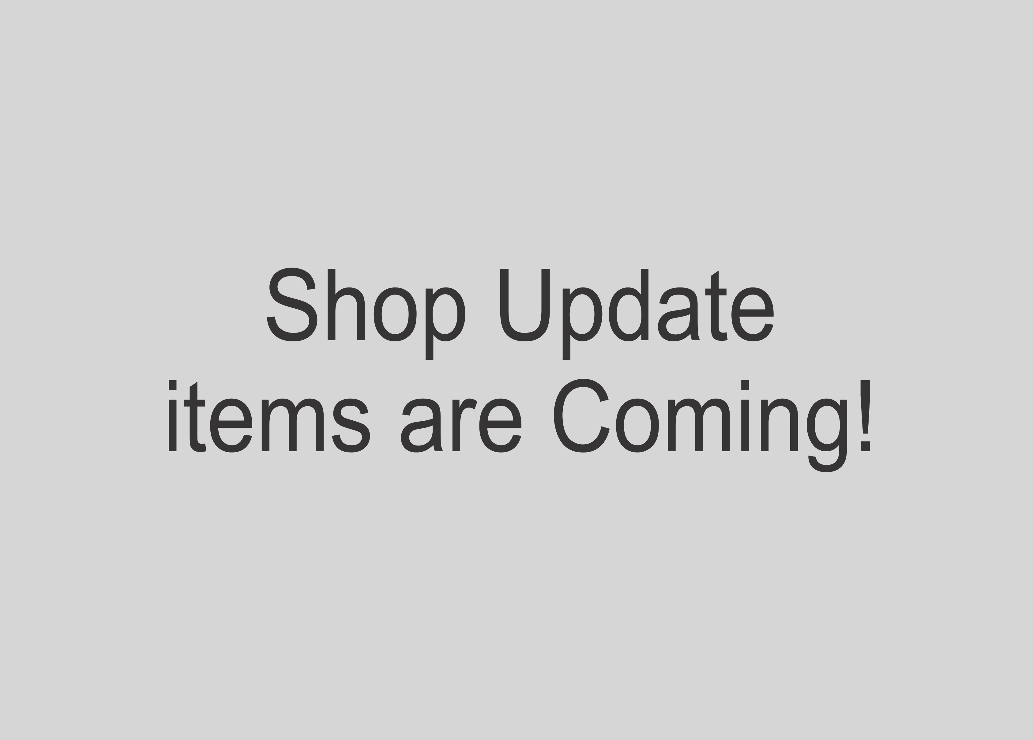 Shop Update items are coming!