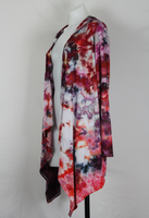 Tie dye hooded Cardigan size Small - Ice dye - Spring Blooms (1)
