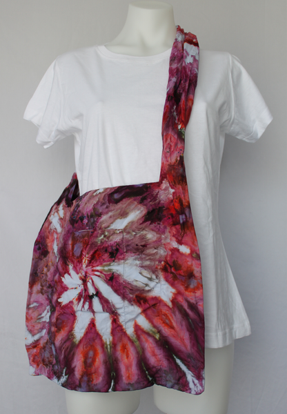 Ice dye Shoulder bag cotton - Spring Blooms twist